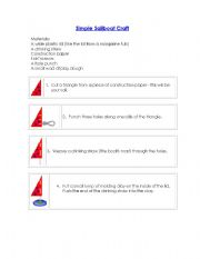 English Worksheet: Building a Simple Boat