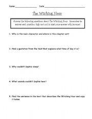 English Worksheets: the BFG