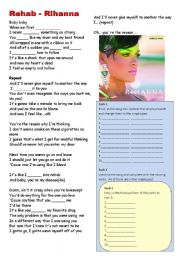 English Worksheet: Rihanna song to work simple past