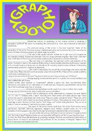 English Worksheets: GRAPHOLOGY