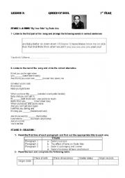 English Worksheet: Queen Of  Soul