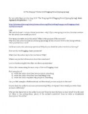 English Worksheets: Questions for �Brag mgo Wolf Begging Ritual