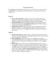 English Worksheets: The Crucible Activities