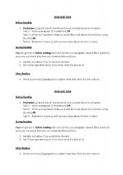 English Worksheets: Skim and Scan