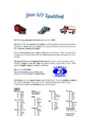 English Worksheets: Security word activity