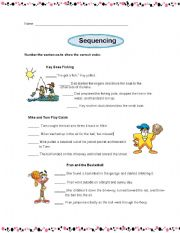 English Worksheets: sequencing