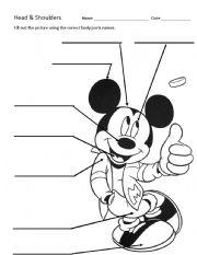 English Worksheets: Head & Shoulders