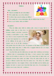 English Worksheets: fathers