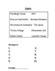 English Worksheet: Dublin