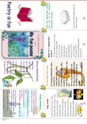 English Worksheets: my fun poems (minibook +activity sheet)