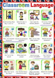 English Worksheet: Classroom Language  -  Poster