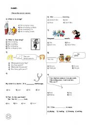 English teaching worksheets: Tests and exams