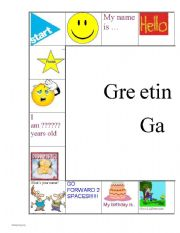 Greetings worksheets english worksheet greetings game m4hsunfo