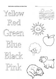 english worksheet colours for kids - Colour Worksheet For Kids