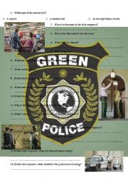 English Worksheet: Green Police commercial