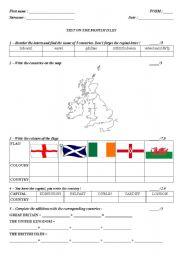 THE BRITISH ISLES - an A1 test