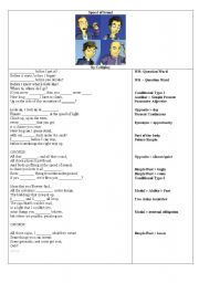 English Worksheets: Coldplay. Speed of sound