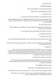 English Worksheets: lyrics prject