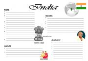 English Worksheets: India_Overview