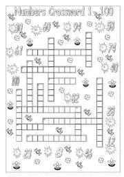 Numbers crossword 1 to 100