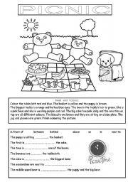 English Worksheet: Picnic