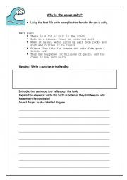 English Worksheets: Explanation text type
