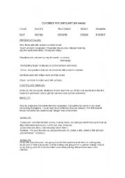 English Worksheet: Lesson plan to present and practice vocabulary for clothing