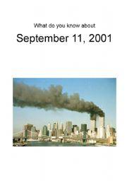English Worksheets: September 11, 2001