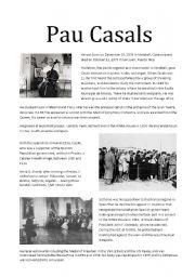 English Worksheets: Pau Casals
