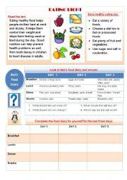 English Worksheets: EATING RIGHT
