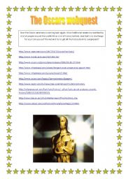 English Worksheets: The Oscars webquest