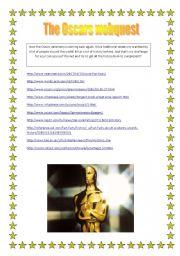 English Worksheet: The Oscars webquest
