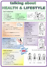 English Worksheets: Talking about HEALTH and LIFESTYLE