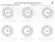English worksheets: the Time worksheets, page 85