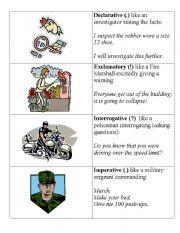 English Worksheets: Sentence Purposes