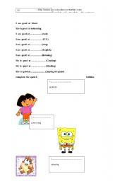 English Worksheets: good at
