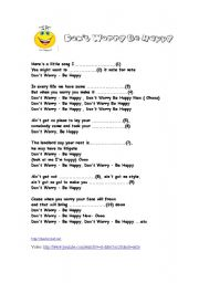 English Worksheets: Don´t Worry - Be Happy