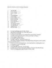 English Worksheets: match