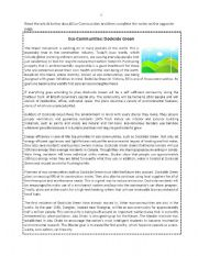 English Worksheets: Eco-Communities: Dockside Green - Notemaking