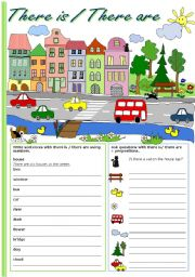 English Worksheet: There is / there are