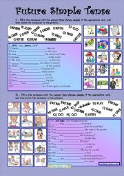 English Worksheet: Future Simple Tense *** fully editable *** with key