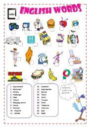 Vocabulary - English Spanish Cognates