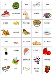 image relating to Printable Matching Games named Foods memory activity - ESL worksheet through rafaeletesser