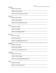 English Worksheets: present continuos