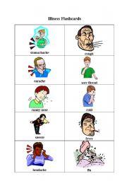 English teaching worksheets: Illnesses
