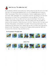 English Worksheet: The rubber boat trip