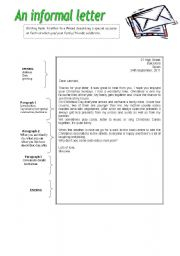 Writing letters worksheets english worksheet an informal letter spiritdancerdesigns Image collections
