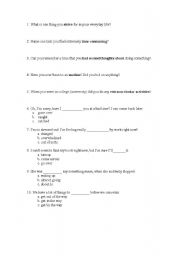 English Worksheets: TOEFL Vocabulary 2