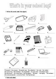 What´s in your school bag?
