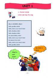 English Worksheets: Greeting People & Introducing Oneself